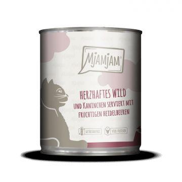 MjAMjAM - herzhaftes Wild & Kaninchen an fruchtigen Heidelbeeren 800 g (Menge: 6 je Bestelleinheit)