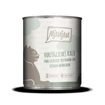 MjAMjAM - vorzügliches Kalb & Truthahn an leckeren Möhrchen 800 g (Menge: 6 je Bestelleinheit)