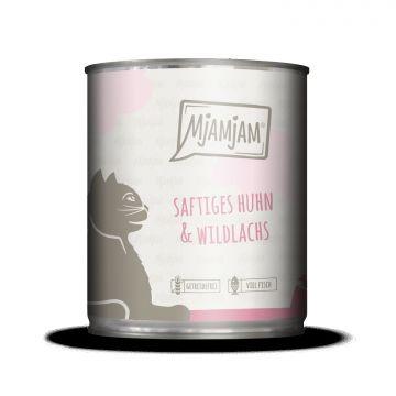 MjAMjAM - saftiges Huhn und Wildlachs 800 g (Menge: 6 je Bestelleinheit)