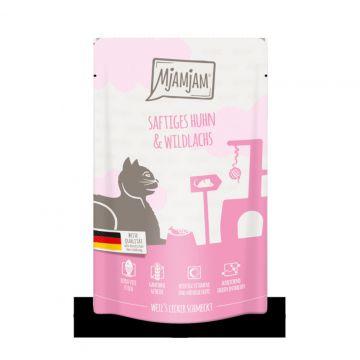 MjAMjAM - Quetschie - Kitten saftiges Hühnchen mit Lachsöl 125 g (Menge: 12 je Bestelleinheit)
