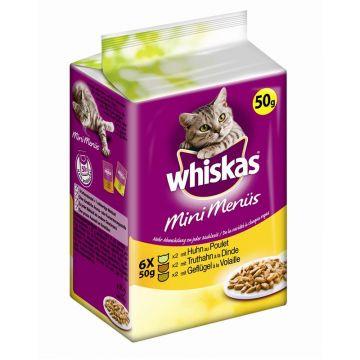 Whiskas 1+ Fresh Menü mit Huhn, Truthahn & Geflügel 6x50g (Menge: 12 je Bestelleinheit)