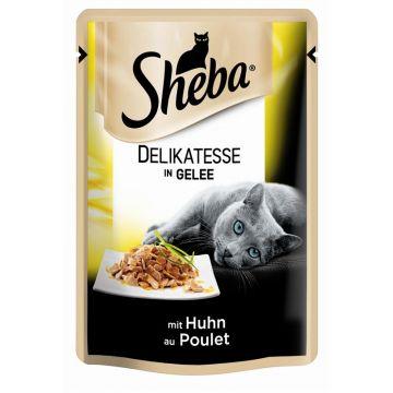 Sheba Portionsbeutel Delicato mit Huhn in Gelee 85g (Menge: 12 je Bestelleinheit)