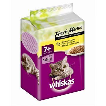 Whiskas Mini Menüs 7+ mit Huhn, Truthahn, und Geflügel 6x50g (Menge: 12 je Bestelleinheit)