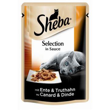 Sheba Portionsbeutel Selection mit Ente & Truthahn in Sauce 85g (Menge: 12 je Bestelleinheit)
