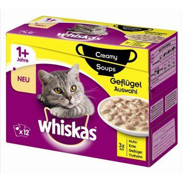 Whiskas Portionsbeutel Multipack Creamy Soups Geflügelauswahl 12x85g (Menge: 4 je Bestelleinheit)