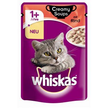 Whiskas Portionsbeutel Creamy Soups mit Rind 85g (Menge: 28 je Bestelleinheit)
