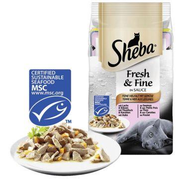 Sheba Portionsbeutel Multipack Fresh&Fine Fisch und Gemüse 6x50g (Menge: 12 je Bestelleinheit)