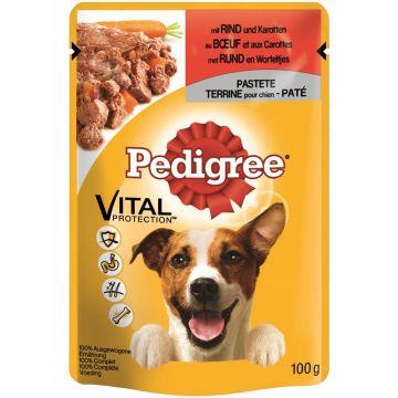 Pedigree Portionsbeutel mit Rind & Karotten Pastete 100g (Menge: 24 je Bestelleinheit)