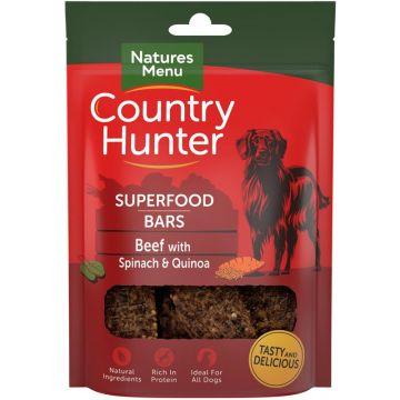 Country Hunter Dog Snack Superfood Bars Rind mit Spinat und Quinoa 100g (Menge: 7 je Bestelleinheit)