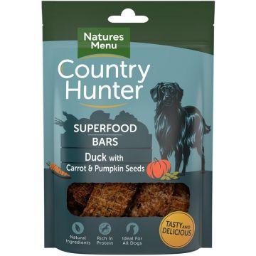 Country Hunter Dog Snack Superfood Bars Ente mit Karotten und Kürbiskernen 100g (Menge: 7 je Bestelleinheit)