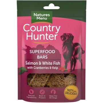 Country Hunter Dog Snack Superfood Bars Lachs mit Weissfisch und Preiselbeeren 100g (Menge: 7 je Bestelleinheit)