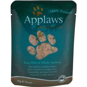 Applaws Cat Nassfutter P.B. mit Thunfischfilet & ganzen Sardellen 70 g (Menge: 12 je Bestelleinheit)