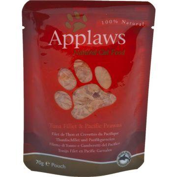 Applaws Cat Nassfutter P.B. mit Thunfischfilet & Pacific Garnelen 70 g (Menge: 12 je Bestelleinheit)
