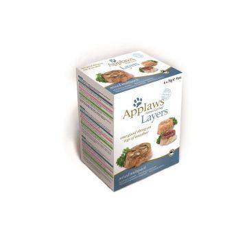 Applaws Cat Nassfutter Schale Layer Multipack gemischt in Gelee 70 g