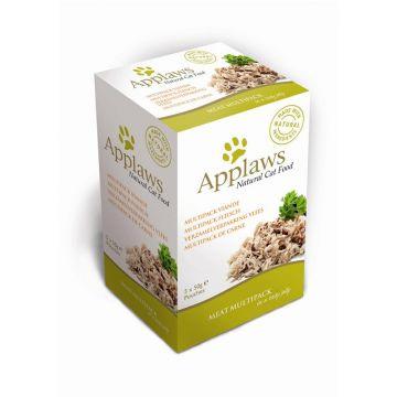 Applaws Cat Nassfutter P.B. im Multipack mit Fleisch 5 x 50 g