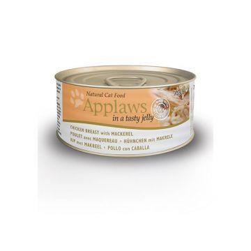 Applaws Cat Nassfutter Dose Hühnchen & Makrele in Gelee 70 g (Menge: 24 je Bestelleinheit)