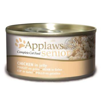 Applaws Cat Nassfutter Dose Senior Hühnchen in Gelee 70 g (Menge: 24 je Bestelleinheit)