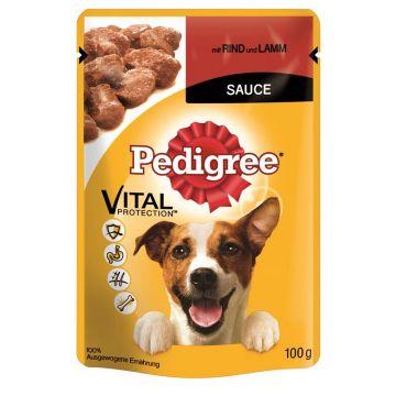 Pedigree Portionsbeutel mit Rind und Lamm in Sauce 100g (Menge: 24 je Bestelleinheit)