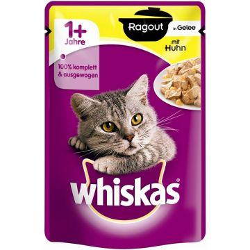 Whiskas Portionsbeutel Ragout 1+ mit Huhn in Gelee 85g (Menge: 28 je Bestelleinheit)