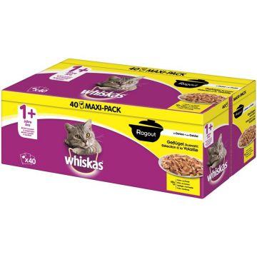 Whiskas Portionsbeutel Multipack 7+ Geflügelauswahl Ragout in Gelee 40x85g