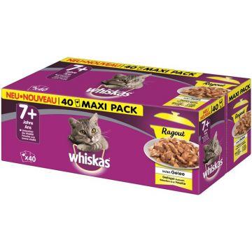 Whiskas Portionsbeutel Multipack 7+ Geflügelauswahl Ragout in Gelee 40 x 85g