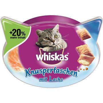 Whiskas Snack Knuspertaschen mit Lachs 72g (Menge: 6 je Bestelleinheit)