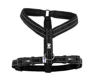 Hurtta Casual Y-Hundegeschirr schwarz, 90 cm