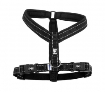 Hurtta Casual Y-Hundegeschirr schwarz, 100 cm
