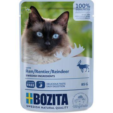 Bozita Pouch Häppchen in Soße mit Rentier 85g (Menge: 12 je Bestelleinheit)