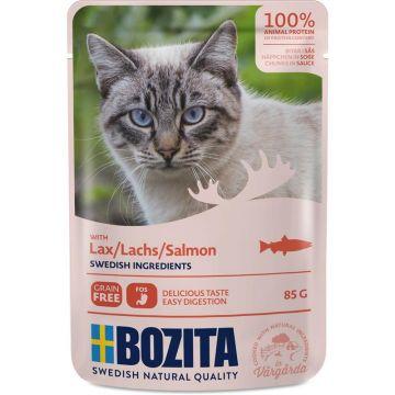 Bozita Pouch Häppchen in Soße mit Lachs 85g (Menge: 12 je Bestelleinheit)