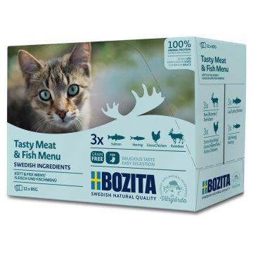 Bozita Multibox Fleisch & Fisch-Menü 12x85g