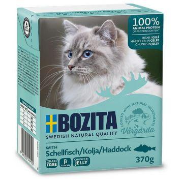 Bozita Cat Tetra Recard Häppchen in Gelee Schellfisch 370g (Menge: 16 je Bestelleinheit)