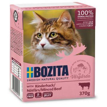 Bozita Cat Tetra Recard Häppchen in Gelee Rinderhack 370g (Menge: 16 je Bestelleinheit)