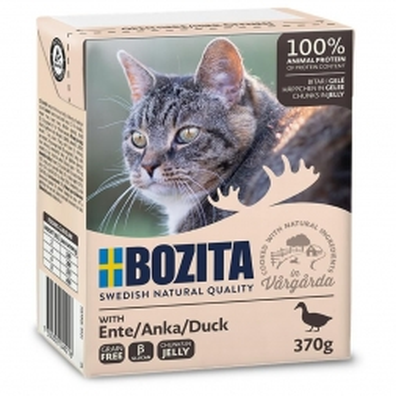 Bozita Cat Tetra Recard Häppchen in Gelee Ente 370g (Menge: 16 je Bestelleinheit)