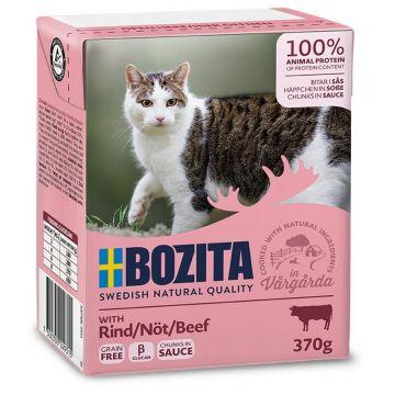 Bozita Cat Tetra Recard Häppchen in Soße Rind 370g (Menge: 16 je Bestelleinheit)