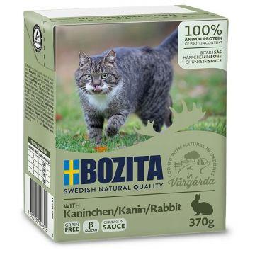 Bozita Cat Tetra Recard Häppchen in Soße Kaninchen 370g (Menge: 16 je Bestelleinheit)