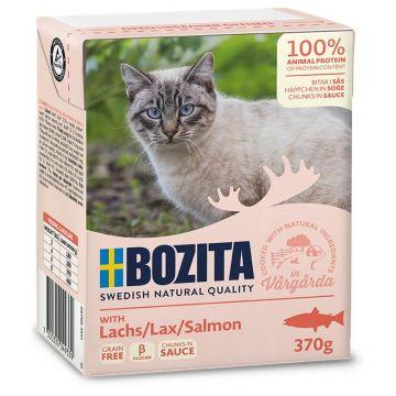 Bozita Cat Tetra Recard Häppchen in Soße Lachs 370g (Menge: 16 je Bestelleinheit)