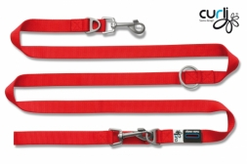 Curli Verstellbare Leine Nylon 200x1.5cm Rot