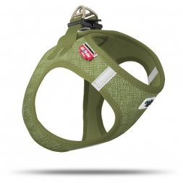 Curli Vest Geschirr Air-Mesh Leinenoptik olive XL