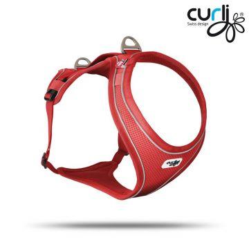 Curli Belka Comfort Geschirr Rot XL