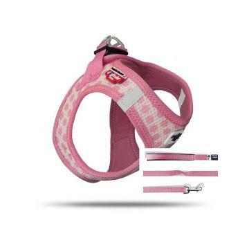 Curli Vest Geschirr Puppy Set Pink-circles 2XS