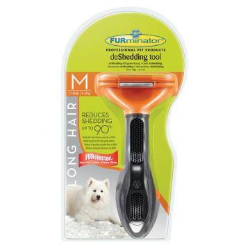 Furminator deShedding Tool für langhaarige mittelgroße Hunde
