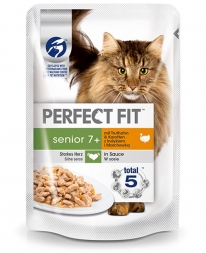 Perfect Fit Cat PB Senior Pute 85g (Menge: 12 je Bestelleinheit)