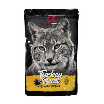 alpha spirit Cat Pouch Turkey mousse 85g (Menge: 24 je Bestelleinheit)