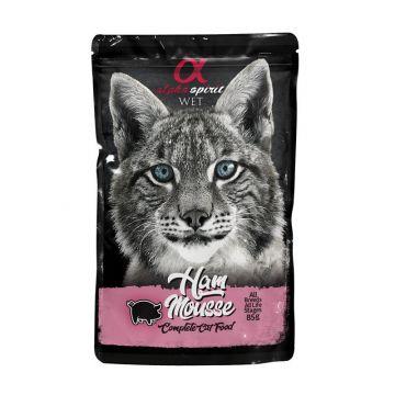 alpha spirit Cat Pouch Ham mousse 85g (Menge: 24 je Bestelleinheit)