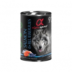 alpha spirit Dog Dose Salmon with Blueberries 400g (Menge: 6 je Bestelleinheit)