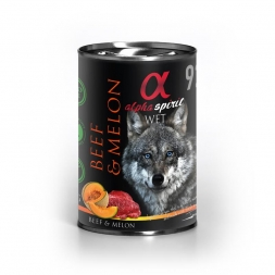 alpha spirit Dog Dose Beef with Melon 400g (Menge: 6 je Bestelleinheit)