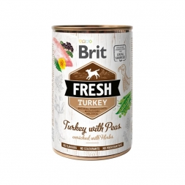 Brit Dog Fresh Turkey with Peas/Truthahn mit Erbsen 400g (Menge: 6 je Bestelleinheit)
