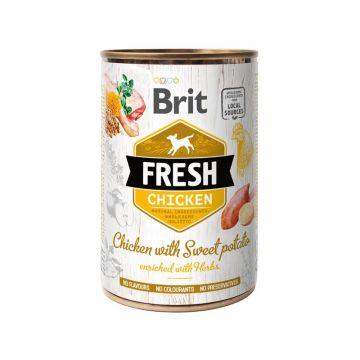 Brit Dog Fresh Chicken with Sweet Potato/Huhn mit Süßkartoffel 400g (Menge: 6 je Bestelleinheit)
