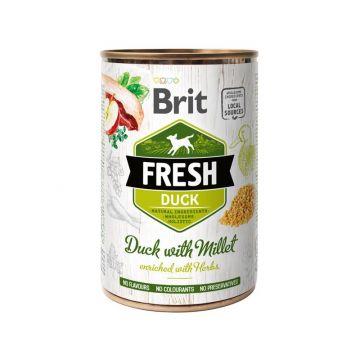 Brit Dog Fresh Duck with Millet/Ente mit Hirse 400g (Menge: 6 je Bestelleinheit)